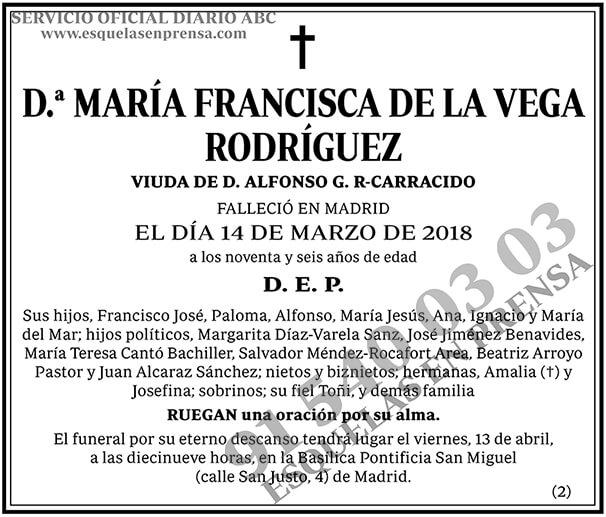 María Francisca de la Vega Rodríguez